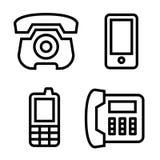 Ícones do telefone ajustados Foto de Stock
