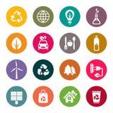 Ícones do tema de Eco ajustados Foto de Stock Royalty Free