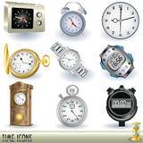 Ícones do tempo Fotografia de Stock