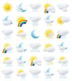 Ícones do tempo Imagem de Stock