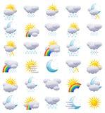 Ícones do tempo Imagem de Stock Royalty Free