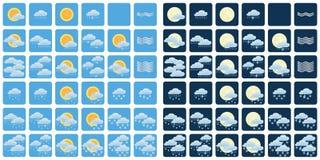Ícones do tempo imagens de stock