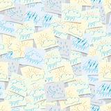 Ícones do tempo colocados no fundo sem emenda Fotografia de Stock Royalty Free