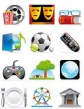 Ícones do tempo de lazer Imagens de Stock