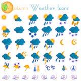 Ícones do tempo do outono Foto de Stock