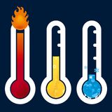 Ícones do termômetro Fotografia de Stock