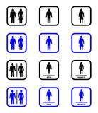 Ícones do toalete ilustração royalty free