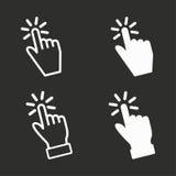 Ícones do toque ajustados Imagens de Stock Royalty Free
