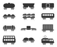 ícones do tráfego do Trilho-frete Fotos de Stock Royalty Free