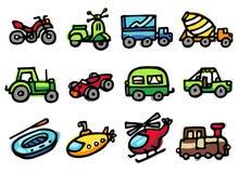 ícones do transporte Fotografia de Stock