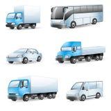 Ícones do transporte ilustração royalty free
