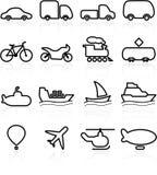 Ícones do transporte Imagens de Stock Royalty Free