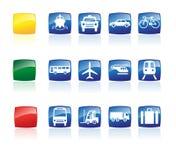 Ícones do transporte ajustados Imagem de Stock