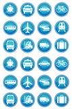Ícones do transporte ajustados Fotografia de Stock