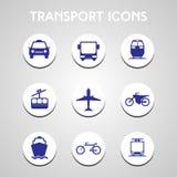 Ícones do transporte ajustados ilustração royalty free