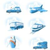 Ícones do transporte & do curso Foto de Stock Royalty Free