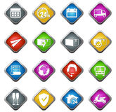 Ícones do transporte e da entrega Fotografia de Stock