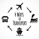 Ícones do transporte isolados no fundo branco Imagens de Stock Royalty Free