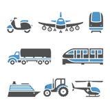 Ícones do transporte - um grupo de décimo Fotos de Stock