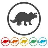 Ícones do Triceratops ajustados ilustração royalty free