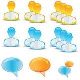 Ícones do usuário Imagens de Stock