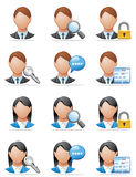 Ícones do usuário Fotos de Stock