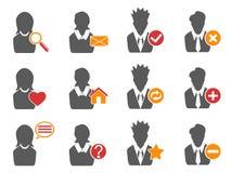 Ícones do usuário ajustados Fotos de Stock Royalty Free