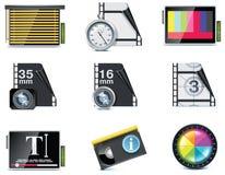 Ícones do vídeo do vetor Imagem de Stock Royalty Free