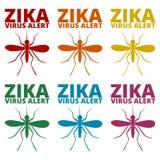 Ícones do vírus de Zika ajustados ilustração do vetor