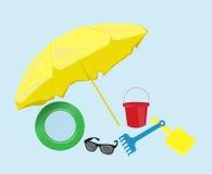 Ícones do verão Imagens de Stock
