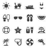 Ícones do verão Foto de Stock
