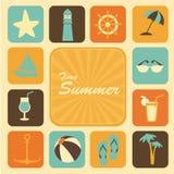 Ícones do verão do tempo Fotos de Stock Royalty Free