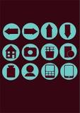 Ícones do vetor Fotografia de Stock