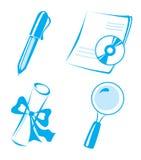 Ícones do vetor ajustados Imagens de Stock Royalty Free