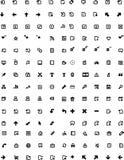 Ícones do vetor ajustados ilustração stock