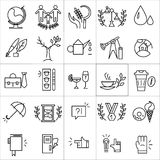 Ícones do vetor ajustados isolados no fundo branco Foto de Stock Royalty Free