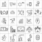 Ícones do vetor ajustados no fundo branco Foto de Stock Royalty Free