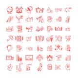 Ícones do vetor ajustados no fundo branco Imagem de Stock Royalty Free