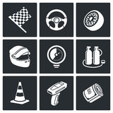 Ícones do vetor da auto competência ajustados Imagem de Stock Royalty Free