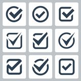 Ícones do vetor da caixa de verificação Foto de Stock Royalty Free