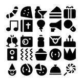 Ícones 7 do vetor da celebração e do partido Imagem de Stock