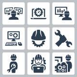 Ícones do vetor da engenharia Fotografia de Stock