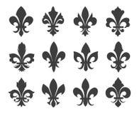 Ícones do vetor da flor de lis Foto de Stock