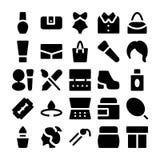 Ícones 5 do vetor da forma Imagens de Stock
