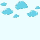 Ícones do vetor da nuvem ilustração stock