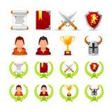 Grupo de ícones em um jogo do tema Fotografia de Stock Royalty Free