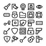 Ícones 6 do vetor da segurança Fotografia de Stock