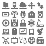 Ícones 1 do vetor da tecnologia de rede Fotos de Stock