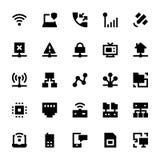 Ícones 1 do vetor da tecnologia de rede Fotografia de Stock Royalty Free