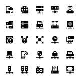 Ícones 2 do vetor da tecnologia de rede Imagens de Stock Royalty Free